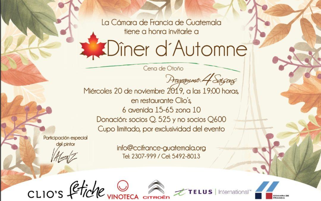 Invitación Diner d' Automne